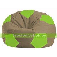 Кресло мешок Мяч бежевый - салатовый М 1.1-88