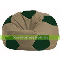 Кресло мешок Мяч бежевый - тёмно-зелёный М 1.1-83