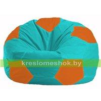 Кресло мешок Мяч бирюзовый - оранжевый М 1.1-296