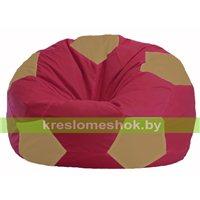 Кресло мешок Мяч бордовый - бежевый М 1.1-301