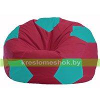 Кресло мешок Мяч бордовый - бирюзовый М 1.1-311