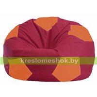Кресло мешок Мяч бордовый - оранжевый М 1.1-307