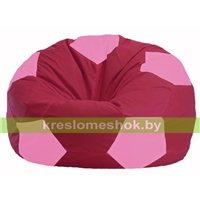 Кресло мешок Мяч бордовый - розовый М 1.1-306