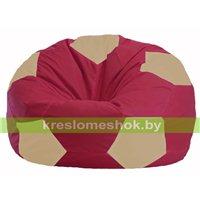 Кресло мешок Мяч бордовый - светло-бежевый М 1.1-304