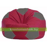 Кресло мешок Мяч бордовый - серый М 1.1-303