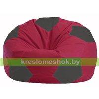 Кресло мешок Мяч бордовый - тёмно-серый М 1.1-300