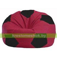 Кресло мешок Мяч бордовый - чёрный М 1.1-299