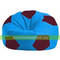 Кресло мешок Мяч голубой - бордовый М 1.1-281