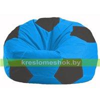 Кресло мешок Мяч голубой - чёрный М 1.1-267