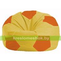 Кресло мешок Мяч жёлтый - оранжевый М 1.1-258