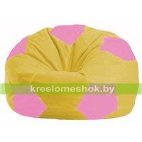 Кресло мешок Мяч жёлтый - розовый М 1.1-257