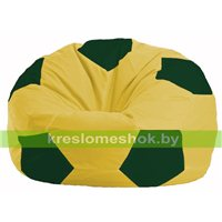 Кресло мешок Мяч жёлтый - тёмно-зелёный М 1.1-251