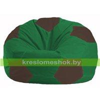 Кресло мешок Мяч зелёный - коричневый М 1.1-242