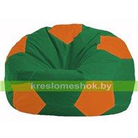 Кресло мешок Мяч зелёный - оранжевый М 1.1-464