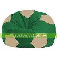 Кресло мешок Мяч зелёный - светло-бежевый М 1.1-240