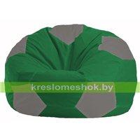 Кресло мешок Мяч зелёный - серый М 1.1-239