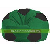 Кресло мешок Мяч зелёный - чёрный М 1.1-235
