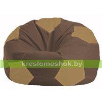 Кресло мешок Мяч коричневый - бежевый М 1.1-330