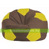 Кресло мешок Мяч коричневый - жёлтый М 1.1-316
