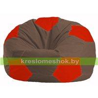 Кресло мешок Мяч коричневый - красный М 1.1-319