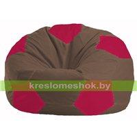 Кресло мешок Мяч коричневый - малиновый М 1.1-331