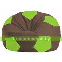 Кресло мешок Мяч коричневый - салатовый М 1.1-325