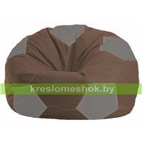 Кресло мешок Мяч коричневый - серый М 1.1-327