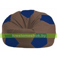 Кресло мешок Мяч коричневый - синий М 1.1-328