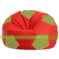 Кресло мешок Мяч красно - оливковый