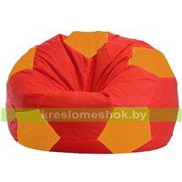Кресло мешок Мяч красно - оранжевое 1.1-176