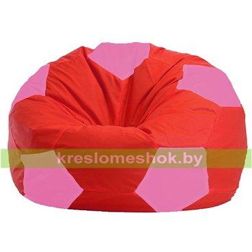Кресло мешок Мяч М1.1-175 (основа красная, вставка розовая)