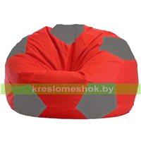 Кресло мешок Мяч красно - светло-серое 1.1-173