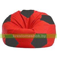 Кресло мешок Мяч красно - тёмно-серое 1.1-170