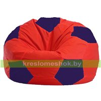 Кресло мешок Мяч красно - тёмно-синее