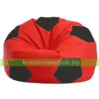 Кресло мешок Мяч красно - чёрное