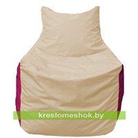 Кресло мешок Фокс Ф 21-131 (слоновая кость - малиновый)