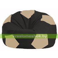 Кресло мешок Мяч чёрный - светло-бежевый М 1.1-471