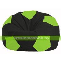 Кресло мешок Мяч чёрный - салатовый М 1.1-466