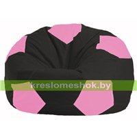 Кресло мешок Мяч чёрный - розовый М 1.1-469