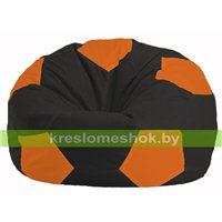 Кресло мешок Мяч чёрный - оранжевый М 1.1-400