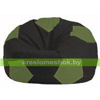 Кресло мешок Мяч чёрный - оливковый М 1.1-399