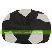 Кресло мешок Мяч чёрный - белый М 1.1-392