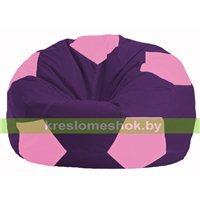 Кресло мешок Мяч фиолетовый - розовый М 1.1-32