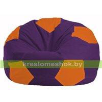 Кресло мешок Мяч фиолетовый - оранжевый М 1.1-33