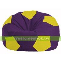 Кресло мешок Мяч фиолетовый - жёлтый М 1.1-35