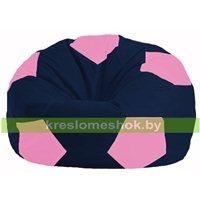 Кресло мешок Мяч тёмно-синий - розовый М 1.1-44