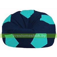 Кресло мешок Мяч тёмно-синий - бирюзовый М 1.1-50