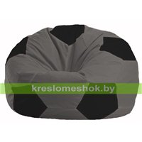 Кресло мешок Мяч тёмно-серый - чёрный М 1.1-475