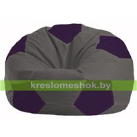 Кресло мешок Мяч тёмно-серый - фиолетовый М 1.1-370