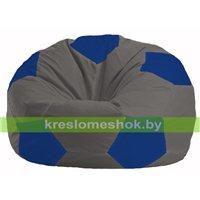 Кресло мешок Мяч тёмно-серый - синий М 1.1-369